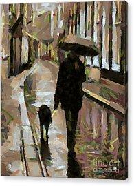 The Rainy Walk Acrylic Print