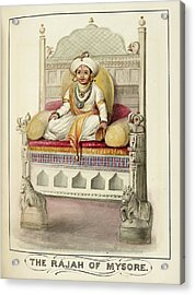 The Rajah Of Mysore Acrylic Print by British Library