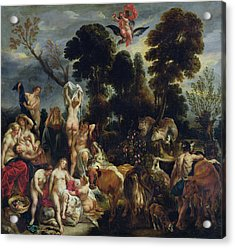The Rape Of Europa, 1643 Oil On Canvas Acrylic Print by Jacob Jordaens