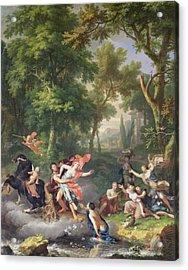 The Rape Of Proserpine Acrylic Print by Jan van Huysum