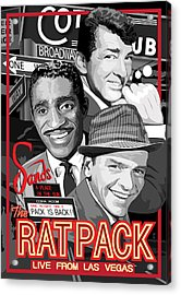 The Rat Pack Poster Acrylic Print