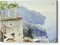 The Ravello Coastline Acrylic Print by Peder Monsted