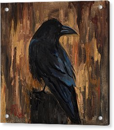 The Raven Acrylic Print by Billie Colson