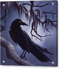 The Raven Acrylic Print by James Christopher Hill