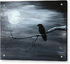 The Raven Piece 2 Of 2 Acrylic Print