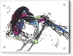 Acrylic Print featuring the painting The Ravishing One by Nicole Gaitan