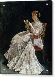 The Reader, C.1860 Acrylic Print by Alfred Emile Stevens