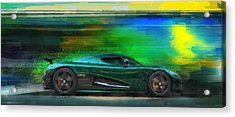 The Real Green Monster Acrylic Print by Alan Greene