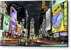 The Real Time Square Acrylic Print by Mike McGlothlen
