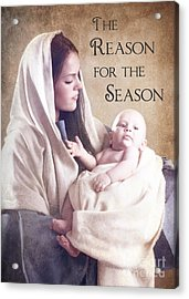 The Reason For The Season Acrylic Print by Cindy Singleton