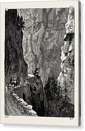 The Recent Accident In The Albula Pass, Switzerland Acrylic Print