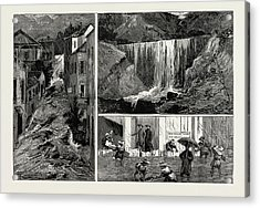 The Recent Disastrous Floods At Hong Kong Acrylic Print by Litz Collection