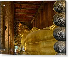 The Reclining Buddha Acrylic Print