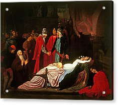 The Reconciliation Of The Montagues And The Capulets Over The Dead Bodies Of Romeo And Juliet Oil Acrylic Print by Frederic Leighton