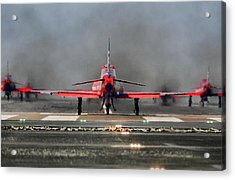 The Red Arrows Acrylic Print by James Lucas
