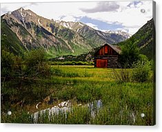 The Red Barn Door Acrylic Print