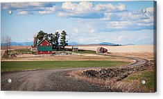 The Red Barn Acrylic Print by Stephen Beaumont