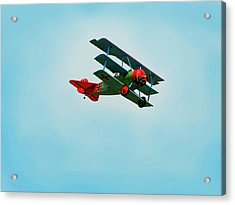 The Red Baron Acrylic Print by Thomas Young