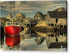 The Red Boat At Peggys Cove Acrylic Print