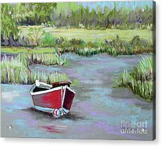 The Red Boat Chronicle  Acrylic Print