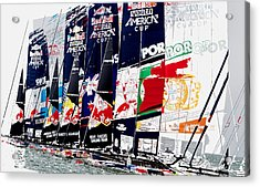 The Red Bull Youth Americas Cup The Start Acrylic Print by John Mangino