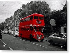 The Red Bus Acrylic Print