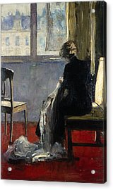 The Red Carpet, 1889 Acrylic Print by Lesser Ury