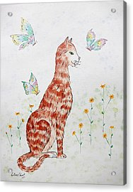 The Red Cat Acrylic Print
