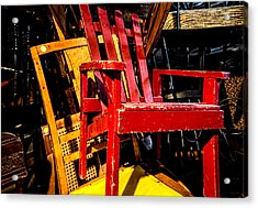 The Red Chair Acrylic Print