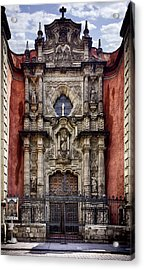 The Red Church Acrylic Print by Lynn Palmer