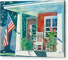 The Red Cottage Acrylic Print