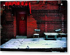 The Red Door Acrylic Print by Amy Cicconi