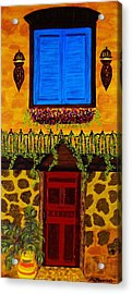 The Red Door Acrylic Print by Celeste Manning