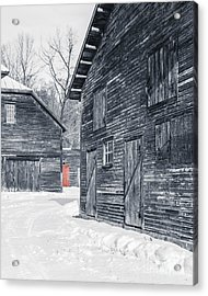 The Red Door Acrylic Print by Edward Fielding
