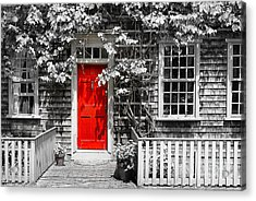 The Red Door Acrylic Print by Sabine Jacobs