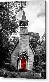 The Red Door Acrylic Print by Steven  Taylor