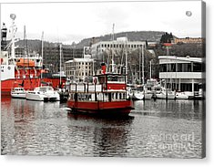 The Red Ferry Acrylic Print
