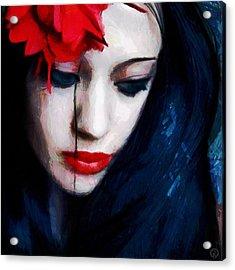 The Red Flower Acrylic Print by Gun Legler