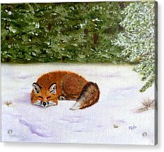 The Red Fox Of Winter Acrylic Print