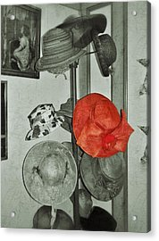 The Red Hat Acrylic Print by Jean Goodwin Brooks