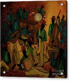 The Red Hat Octet And Friends Acrylic Print by Larry Martin