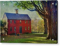 Acrylic Print featuring the photograph The Red House by Barbara Manis