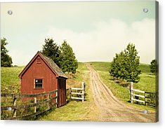 The Red House Acrylic Print by Lee Costa