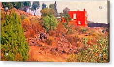 The Red House Acrylic Print by Spyder Webb