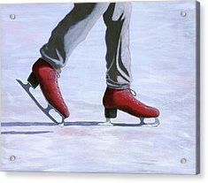 The Red Ice Skates Acrylic Print