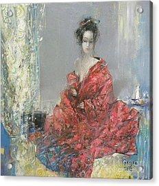 The Red Kimono Acrylic Print