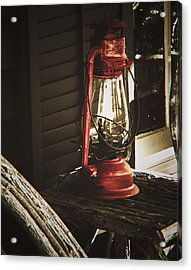 The Red Lantern Acrylic Print by Debra Crank