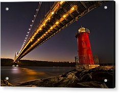 The Red Little Lighthouse Acrylic Print