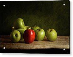 The Red Acrylic Print by Luiz Laercio
