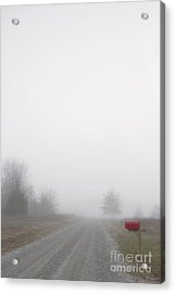 The Red Mailbox Acrylic Print by Kay Pickens